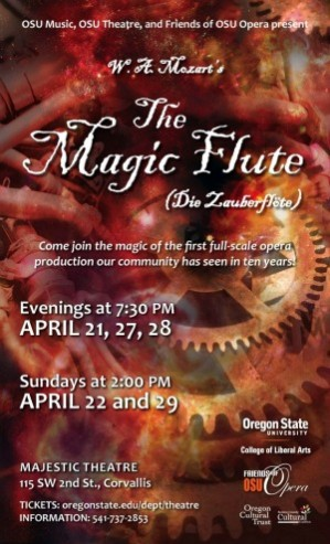An exciting collaboration between OSU Music, OSU Theatre, and Friends of OSU Opera has formed to present Mozart's beloved opera, The Magic Flute.