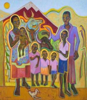 The exhibit at the Memorial Union Concourse Gallery on Oregon State's campus features 22 original paintings from LaDuke's travels to Uganda, Rwanda, Peru, Ecuador, Poland, Cambodia and Vietnam.
