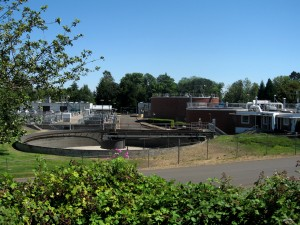 Corvallis' Wastewater Treatment Plant; photo by Genevieve Weber