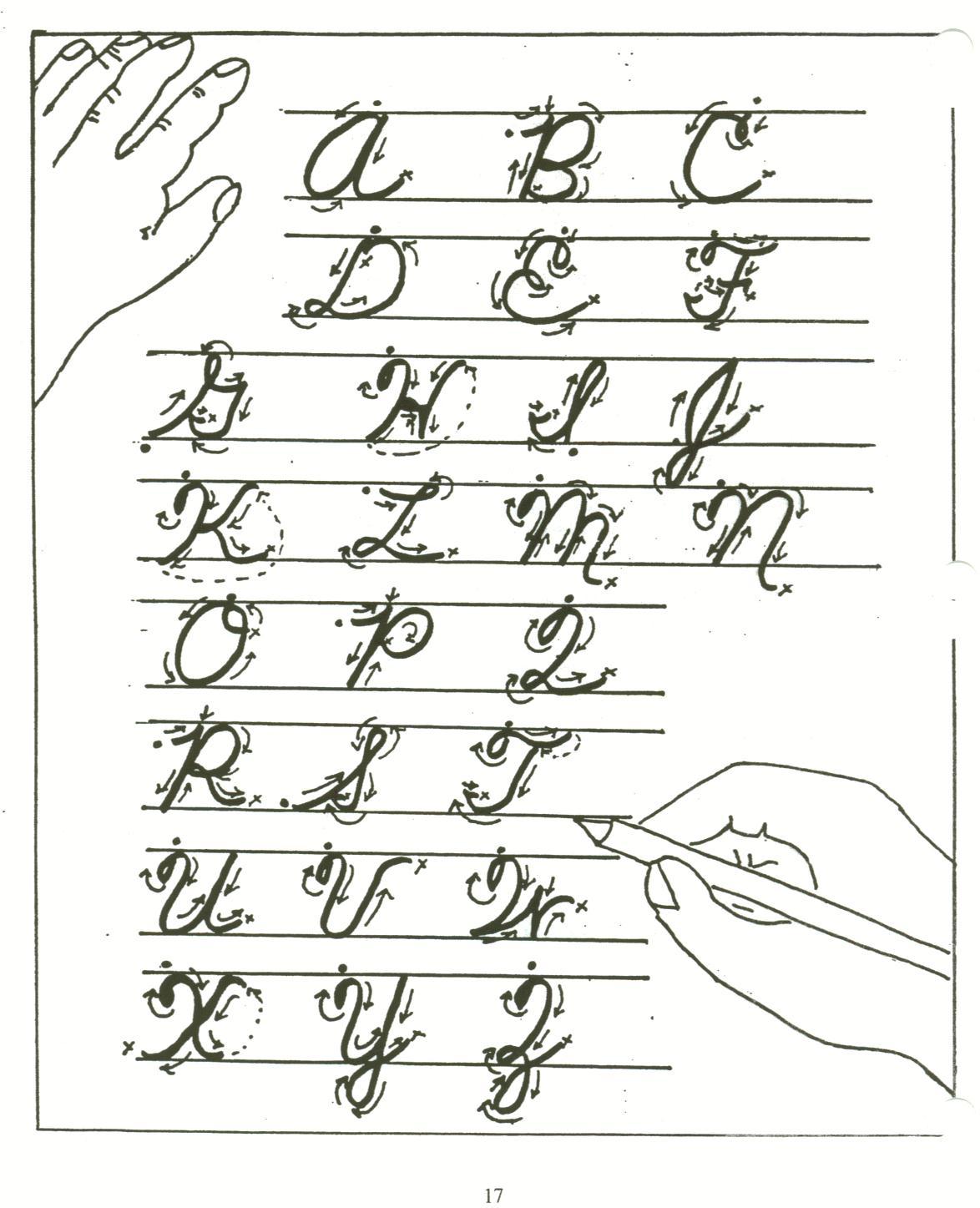 j in cursive writing