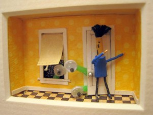 no aliens were harmed in the making of this mini diorama