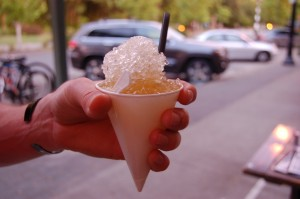 grown up snocone @ Downward Dog