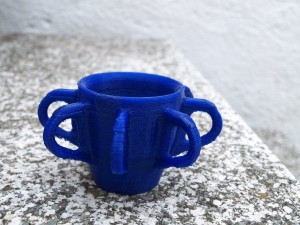 Octo-cup made using the RepRap 3D Printer