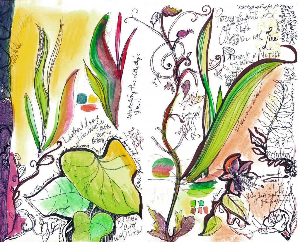 Botanical Mixed Media Journal Page_smaller
