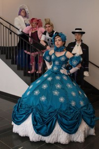 Laura Kane and a group of friends as character from the anime Paradise Kiss.