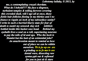 Lobotomy lullaby