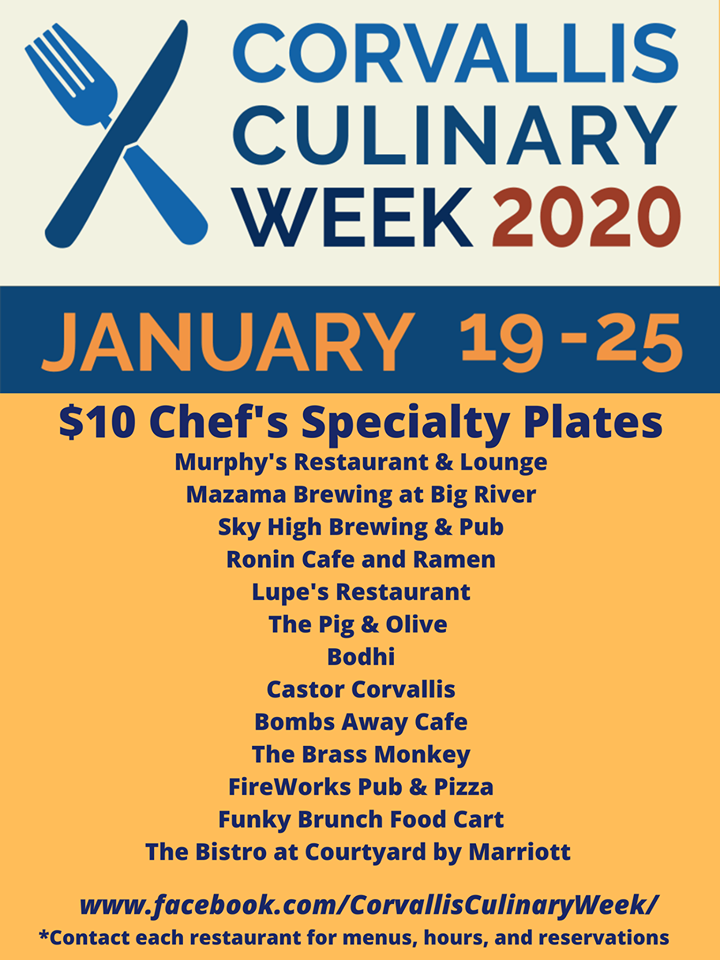 Corvallis Culinary Week 2020 Guide