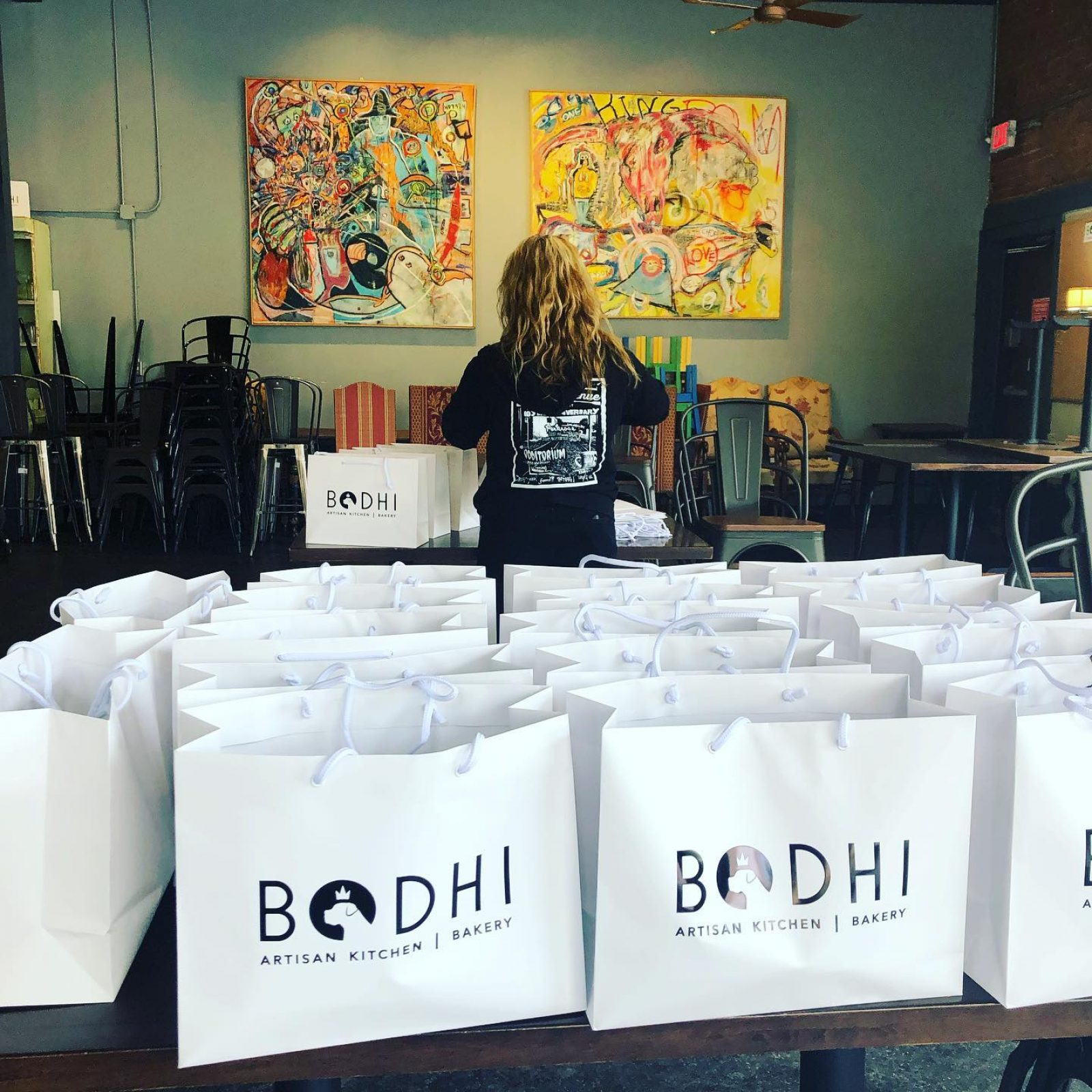 IOU-contributed by Bodi Bakery packed meals to give away
